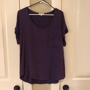 Nordstrom Pleione blouse - plum, medium